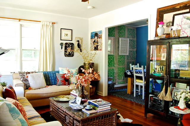 Couches Ikea Living Room Eclectic with Antiques Art Bold Bright1