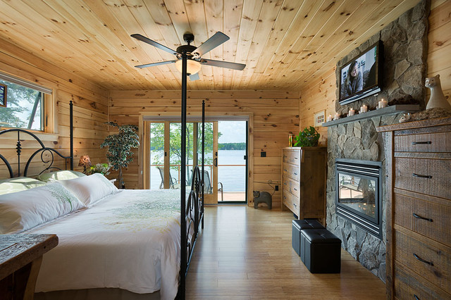 Coventry Log Homes Bedroom Rustic with Coventry Coventry Log Homes