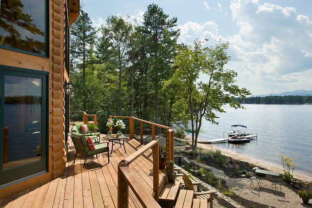 Coventry Log Homes Deck Rustic with Coventry Coventry Log Homes