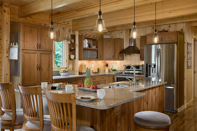 Coventry Log Homes Kitchen Rustic with Coventry Coventry Log Homes