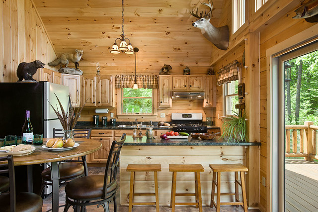 Coventry Log Homes Kitchen Rustic with Coventry Coventry Log Homes1