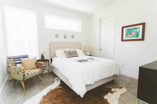 cowhide rugs Bedroom Contemporary with My Houzz