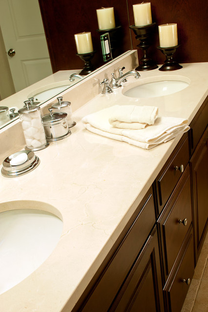 Crema Marfil Marble Bathroom Traditional with Crema Marfil Crema Marfil