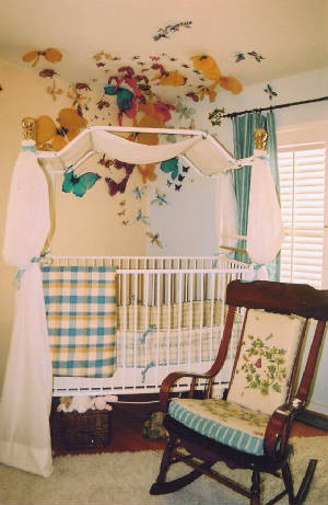 Crib Comforter Kids Traditional with Area Rug Bed Canopy