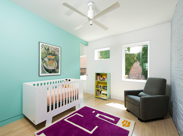 Crib Comforter Nursery Scandinavian with Accent Wall Alley Dwelling