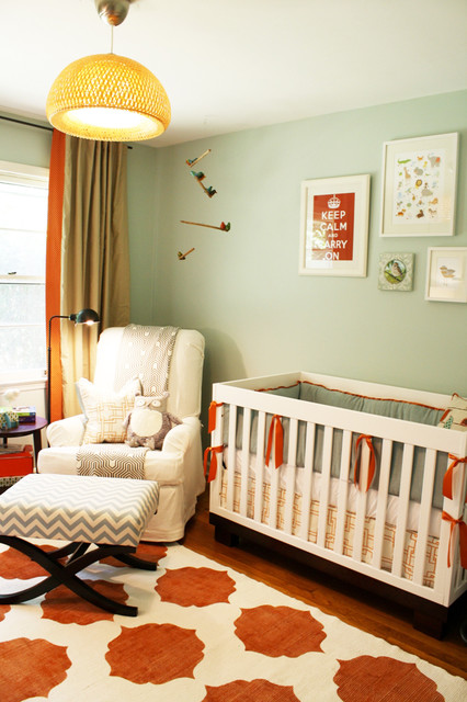 Crib Comforter Nursery Transitional with Area Rug Bold Colors