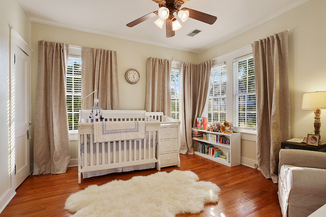 Crib Quilt Size Nursery Traditional with Blue Bedding Ceiling Fan