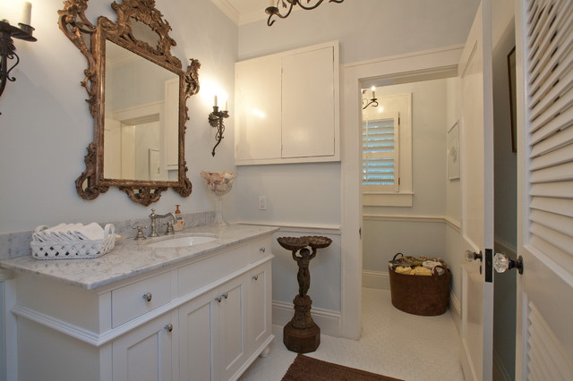 Crystal Door Knobs Bathroom Mediterranean with Baseboards Bathroom Mirror Bathroom
