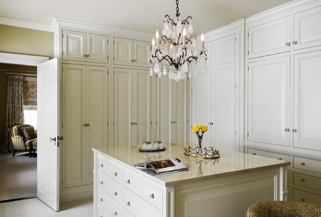 Crystal Door Knobs Closet Traditional with Beige Paint Beige Walls