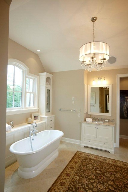 crystorama Bathroom Traditional with area rug baseboards bathroom