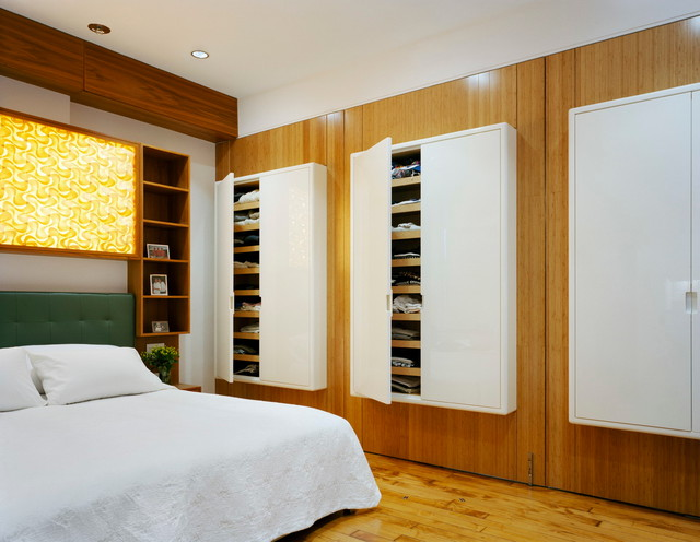 Cubby Storage Unit Bedroom Contemporary with Backlit Panel Closet Cupboards