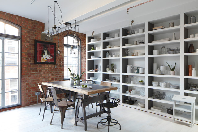 Cube Shelving Unit Dining Room Industrial with Built in Storage Cube