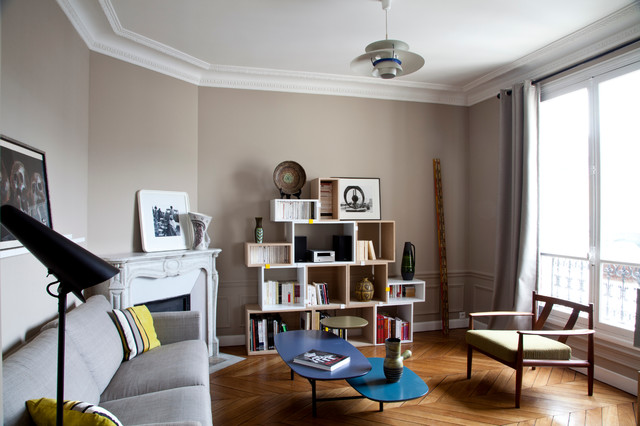 cube shelving unit Living Room Contemporary with bibliothque cubes modulables black