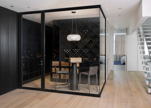 Cube Storage Bins Wine Cellar Contemporary with Black Shelves Black Wine