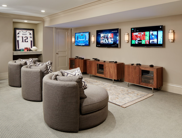 Cuddle Chair Basement Traditional with Gray Carpet Gray Lounge