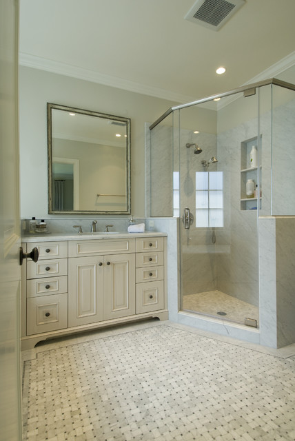 Cultured Marble Shower Bathroom Traditional with Alcove Cabinet Country Crown