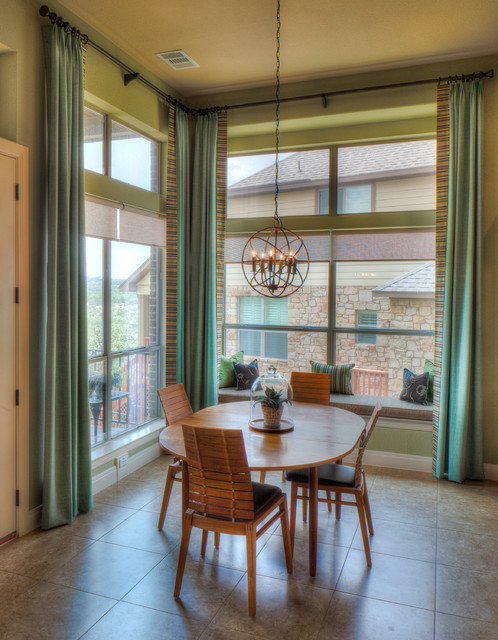 Curtain Lengths Dining Room Contemporary with Breakfast Nook Chandelier Contemporary