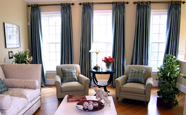 Curtain Lengths Living Room Contemporary with Armchair Baseboards Coffee Table