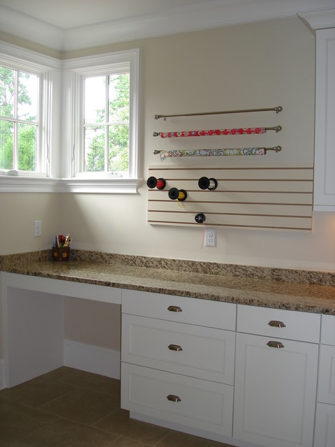 curtain rod holders Laundry Room Traditional with custom laundry room wrapping