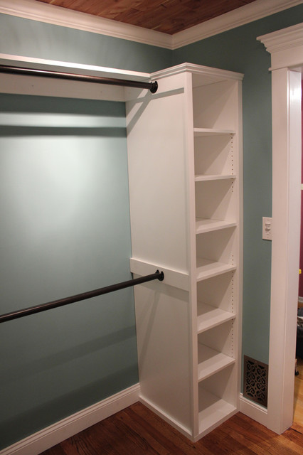 curtain rods ikea Closet Traditional with Closet Closet hardware shelving