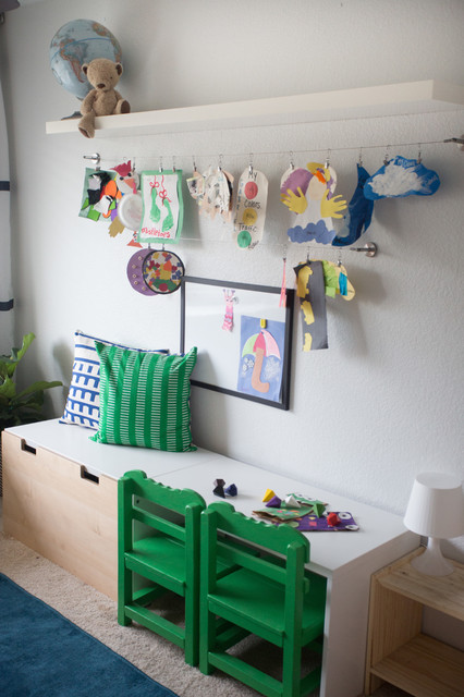 curtain rods ikea Kids Eclectic with art display art wall