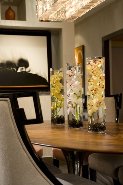 Cylinder Vase Dining Room Contemporary with Categorydining Roomstylecontemporarylocationorange County