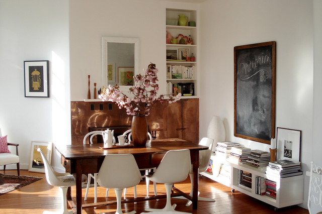 Danish Inspirations Dining Room Eclectic with Bookcase Bookshelves Built Ins