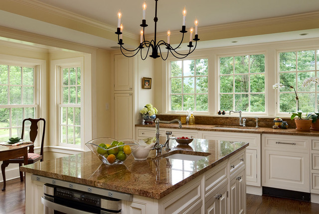 Danze Faucets Kitchen Traditional with Country Home Crown Moldings