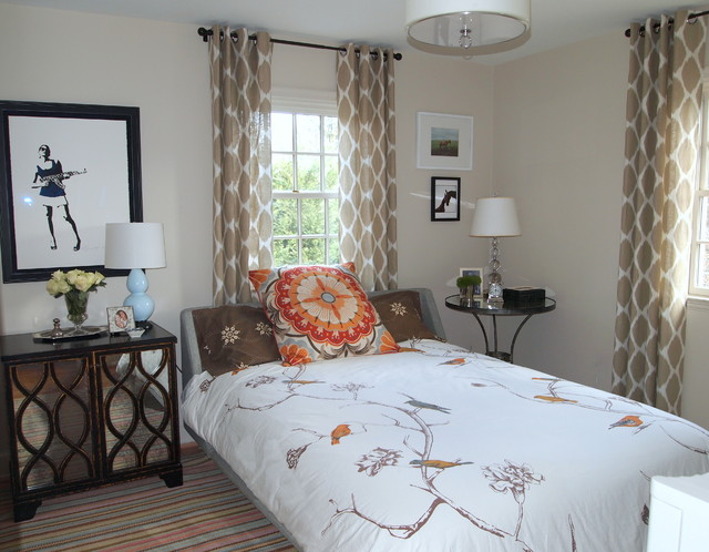 Dash and Albert Rugs Bedroom Eclectic with Anthropologie Beige Bird Motif