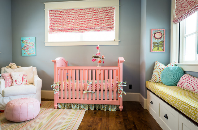 Dash and Albert Rugs Nursery Transitional with Built in Storage Bench