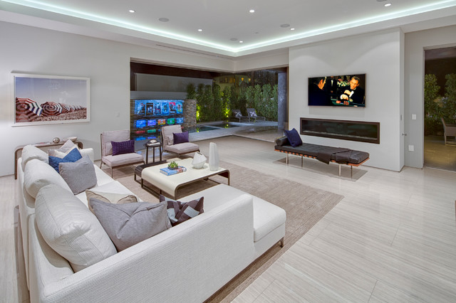 Daybed Frames Family Room Contemporary with Corner Window Cove Lighting