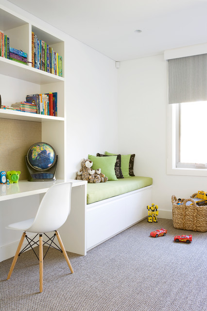 daybed with drawers Kids Contemporary with built in seat built