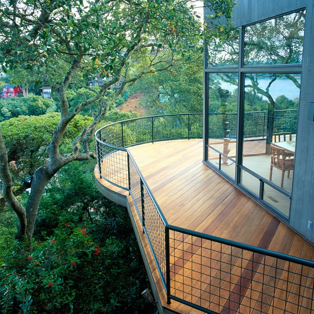 Deck Railing Designs Deck Contemporary with Contemporary Deck Curved Deck1