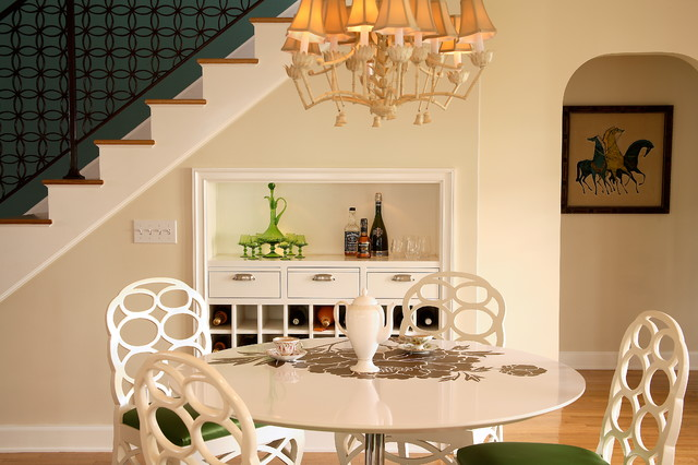 Deck Railing Designs Dining Room Transitional with Chandelier Feminine Framed Artwork