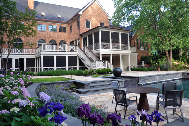 Deck Railing Designs Exterior Traditional with Arch Windows Balcony Brick1
