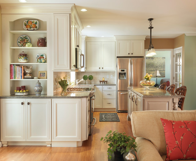 Decora Cabinets Kitchen Transitional with Backsplash Beige Cabinets Beige