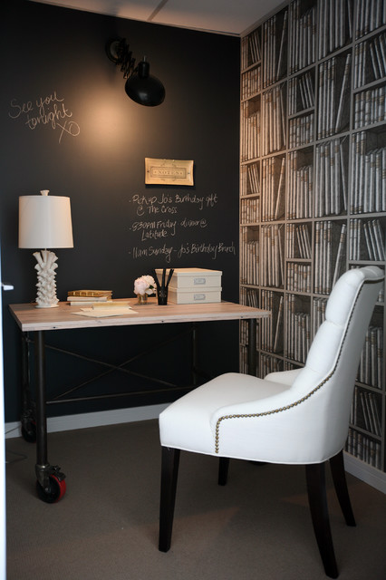 Decorative Chalkboards Home Office Traditional with Black Board Chalk Wall