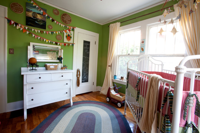 Decorative Chalkboards Nursery Eclectic with Antiques Baseboards Bold Colors