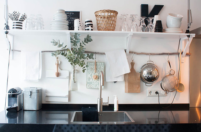 Decorative Shelf Brackets Kitchen Eclectic with Christmas My Houzz