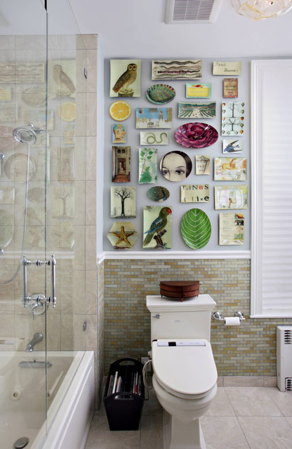 Decorative Switch Plates Bathroom Eclectic with Artwork Best Nyc Interior