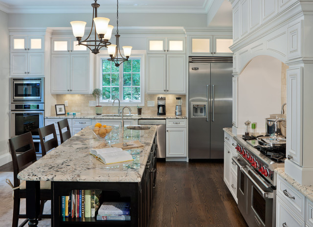 Delicatus Granite Kitchen Contemporary with Ceiling Lights Counter Stools2