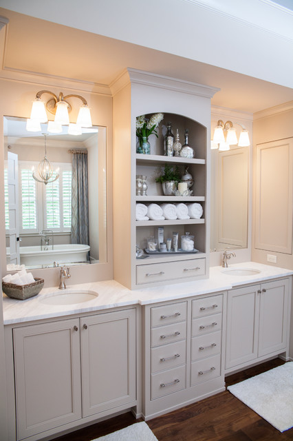 Delta Cassidy Bathroom Farmhouse with Bathroom Lighting Beige Bathroom