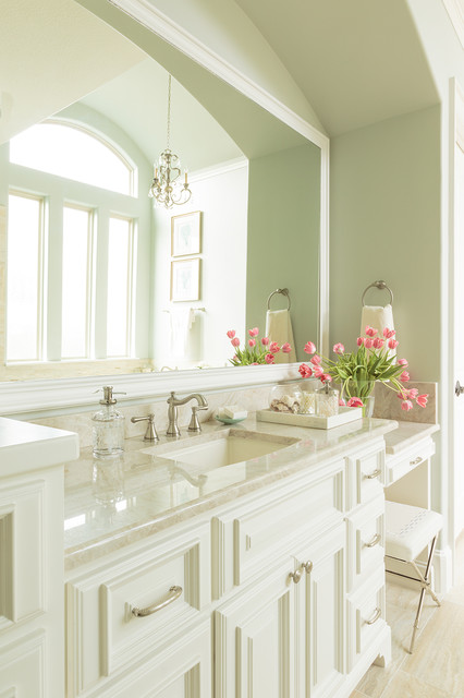 Delta Cassidy Bathroom Traditional with Blue Green Brushed Nickel