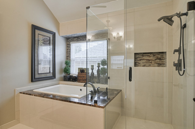 Delta Dryden Bathroom Contemporary with Alcove Tub Bathroom Bathtub