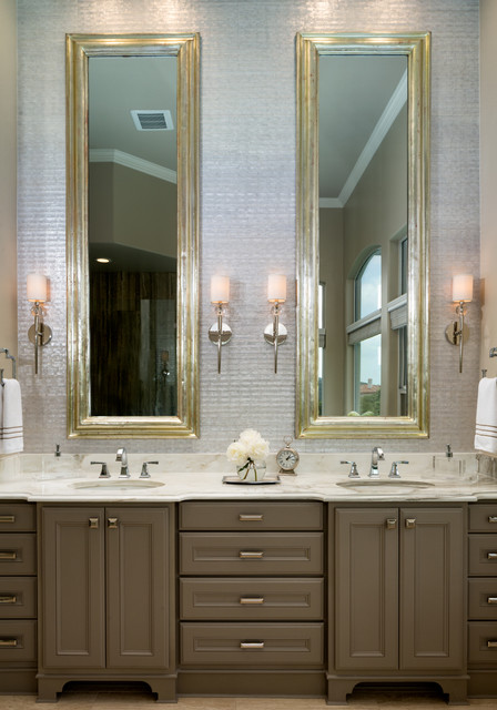 Delta Dryden Bathroom Transitional with Bath Sanctuary Double Vanity