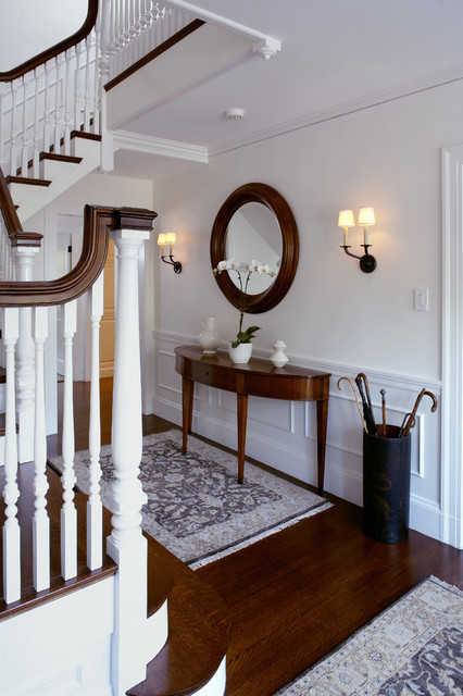 Demilune Table Staircase Traditional with Airy Area Rugs Chair