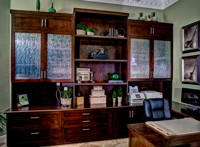 desk blotters Home Office Contemporary with built in office Custom