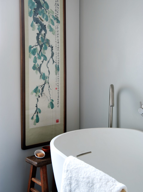 Difference Between Duvet and Comforter Bathroom Contemporary with Asian Art Asian Inspired