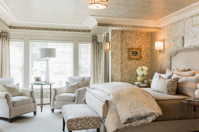 Difference Between Duvet and Comforter Bedroom Traditional with Beige Bedding Crown Molding