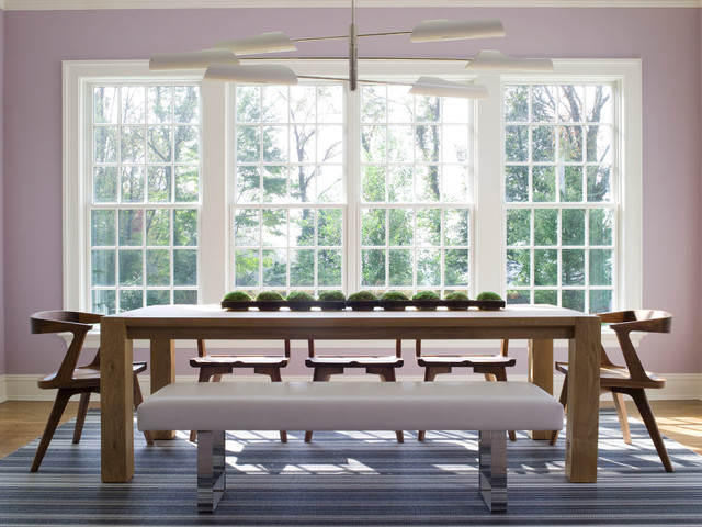 Dinette Chairs Dining Room Contemporary with Aspen Bench Seating Blue
